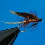 Invicta Gold Wet Trout Fishing Fly #12 (W138)
