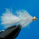 White Cactus Gold Head Mini Lure Trout Fishing Fly #10 (L60)