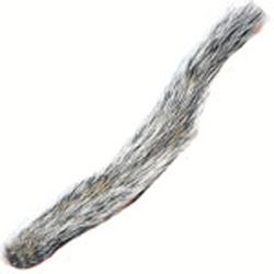 Grey Whole Squirrel Tail - Natural