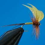 Mayfly Yellow Drake Special Dry Trout Fishing Fly #14 (D587)
