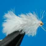 White Gh Blob Trout Fishing Fly #12 (Bl20)