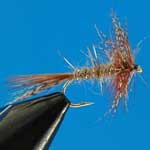 March Brown Hackle Dry Trout Fishing Fly