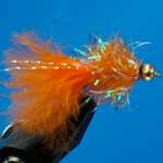 Orange Cactus Gold Head Mini Lure Trout Fishing Fly #10 (L59)