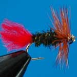 Red Tag Dry Trout Fishing Fly #14 (D334)