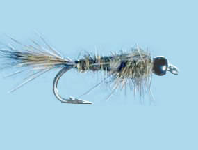 Turrall Tungsten Bead Head Nymph Hares Ear Dark - TB04