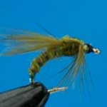 Emerger Olive Buzzers Sprm Trout Fishing Fly #12 (N767)