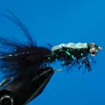Gladiator Black Bc Lure L/S Trout Fishing Fly #10 (L328)