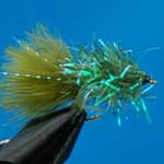 Olive Blob Trout Fishing Fly