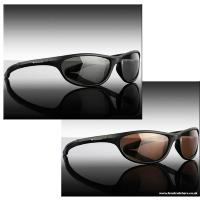 Wychwood Black Wrap Sunglasses Double Deal - 1x Smoke & 1x Brown Lens