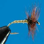 Greenwells Glory (Hackle) Dry Trout Fishing Fly #14 (D238)
