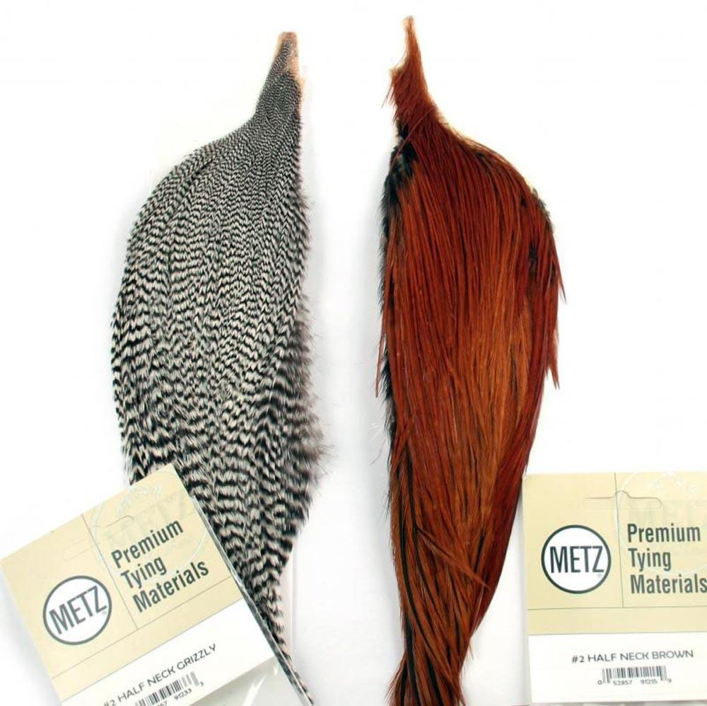 metz neck cock grizzly cape grade 2 dry fly hackle feathers