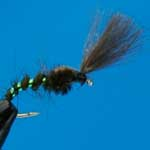 Shuttlecock Buzzer Olive CDC Nymph Trout Fishing Fly