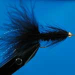 Woolly Bugger/Tadpole Black Gh Lure L/S Trout Fishing Fly