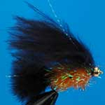 Cats Black And Orange Fritz Gh L/S Trout Fishing Fly #10 (Fr3)
