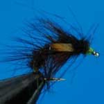 Snatcher Black And Lime Jc Wet Trout Fishing Fly #12 (W214)