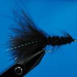 Tadpole Black Lure L/S Trout Fishing Fly #10 (L156)