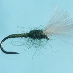 Turrall CDC Buzzer Olive Fly - DG18