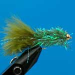 Olive Fritz Gh L/S Trout Fishing Fly #10 (Fr15)
