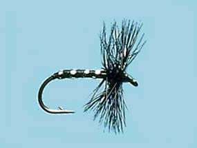 Turrall Dry Hackled Black Midge - Dh05