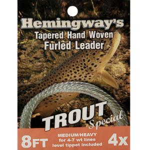 Hemingway Trout Special Furled Leader