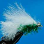 Fritz Cats White And Green Bc Lure L/S Trout Fishing Fly