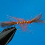 Shipmans Buzzer Orange CDC Nymph Trout Fishing Fly #12 (N814)