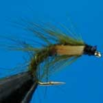 Snatcher Olive Jc Wet Trout Fishing Fly #12 (W231)