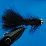Tadpole Black Bc Lure L/S Trout Fishing Fly #10 (L348)