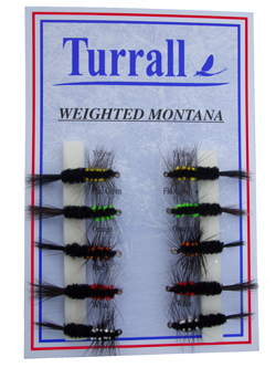 Turralls Montana Nymphs Fly Collection - 10 Flies - Mns