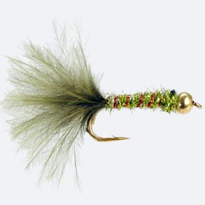 Turrall Bead / Gold Head Damsel Olive - Bh34