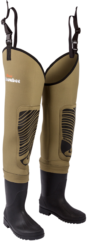 Snowbee Classic Neoprene Cleated Bootfoot Thigh Waders - 12302.01
