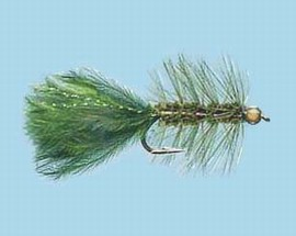 Turrall Damsel Nymphs Gold Head Bugger Olive - Gb01