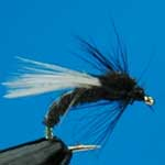 Emerger Black Buzzers Sprm Trout Fishing Fly #12 (N761)