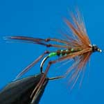 Hoppers Olive Special Dry Trout Fishing Fly