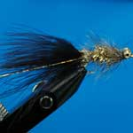 Gold Humungus Bc Lure L/S Trout Fishing Fly #10 (L332)