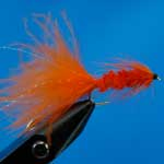 Tadpole Orange Lure L/S Trout Fishing Fly #10 (L169)