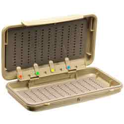 Richard Wheatley Water-Tite Easy Grip Detachable Threader Bar Fly Box - 9753