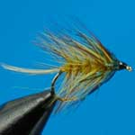 Golden Olive Wet Irish Bumble Trout Fishing Fly