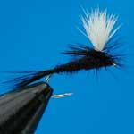 Black Gnat Parachute Dry Trout Fishing Fly