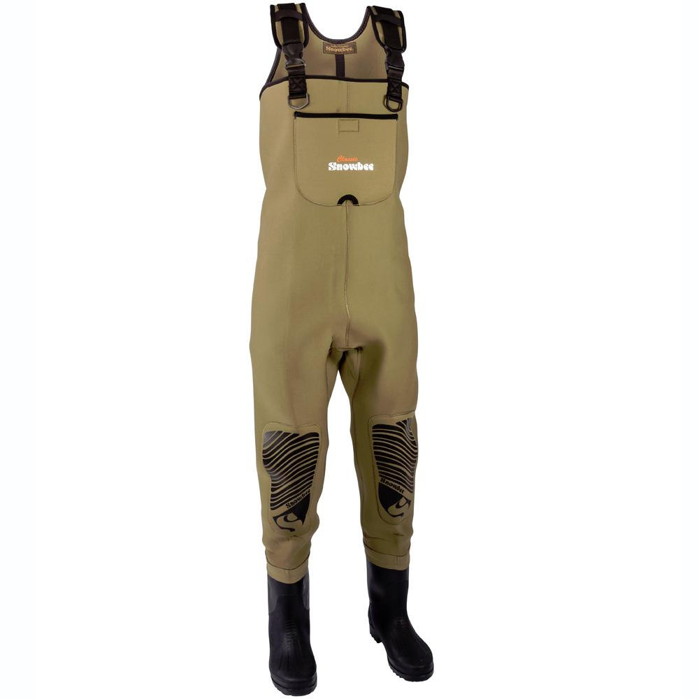 Snowbee classic neoprene cleated bootfoot chest waders for Best fly fishing waders