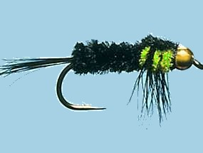 Turrall Bead / Gold Head Montana Flu Green - Bh22