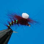 Emerger Claret Parachute Suspender Trout Fishing Fly #12 (D86)