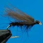 F Fly Black CDC Nymph Trout Fishing Fly #12 (N799)
