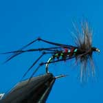 Hopper Bibio Special Dry Trout Fishing Fly #10 (D483)
