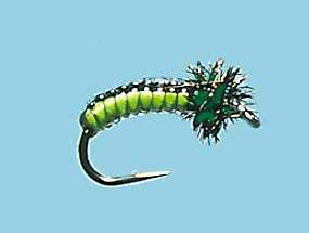 Turrall Juicy Grubs Black & Lime - Jg02