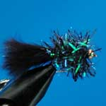 Fritz Black G.H.Nymph S/S Trout Fishing Fly #12 (N414)