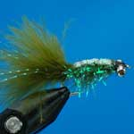 Gladiator Olive Bc Lure L/S Trout Fishing Fly #10 (L329)