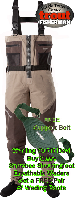 Snowbee Prestige Zip Front Stockingfoot Chest Wader - 11151