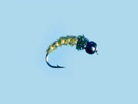 Turrall Tungsten Bead Head Nymph Caddis Olive - TB02