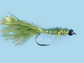Turrall Damsel Nymphs Tungsten Olive - Tb03